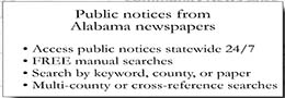 Click here to see a full listing of Alabama's Public Notices
